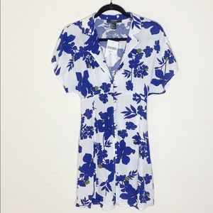 Forever 21 | Button Down Floral Blue Dress
